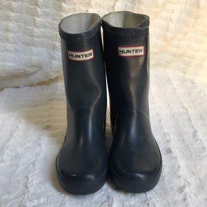 Hunter boots dark blue color